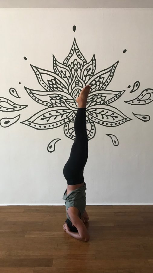 Chelsea Wallace demonstrating one of her many yoga poses.