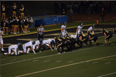 The Bulldogs defend their end zone in the final minutes of the Buena vs. Ventura game on Oct. 25 at Larrabee Stadium