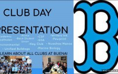 The first slide for the presentation for Club Day, Sep.30 where they informed students on clubs such as Black Student Union (on the right) and Key Club (on the left).