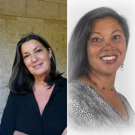 "Headshot of Jackie Moran (left), the incumbent of the school board for district and headshot of Amy Callahan ""Yamamoto"" who is running for the school board position for district three as well."