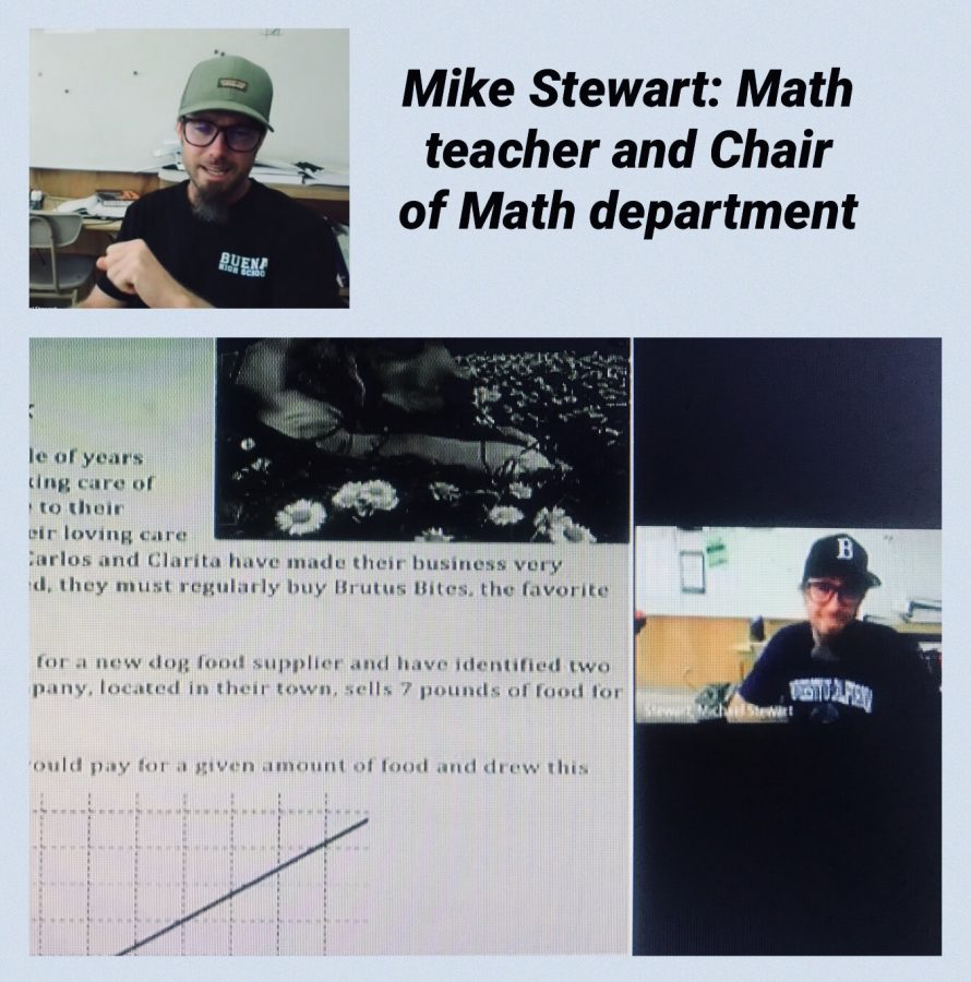 Mike+Stewart+welcoming+his+students+and+going+over+the+math+lesson+of+the+day.+