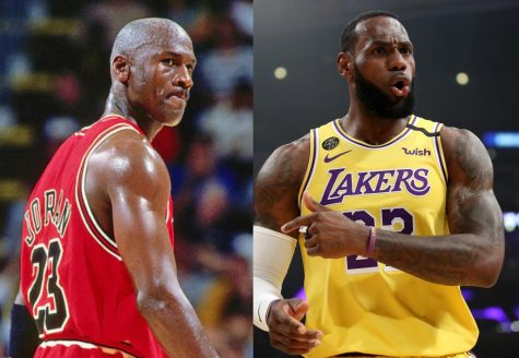 Michael Jordan (left) and LeBron James (right) both have remarkable careers in the world of basketball, but only one can be the G.O.A.T.