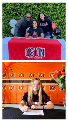 Savana Durr (top) and Taylin Butterbaugh (bottom) have officially signed their NIL Nov. 11.