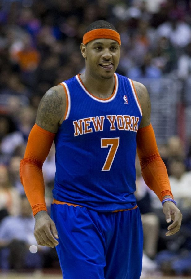 Carmelo+Anthony+embraces+his+new+found+bench+role
