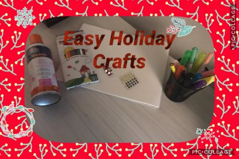 Graphic of supplies to use to make fun, easy crafts for the holiday season.