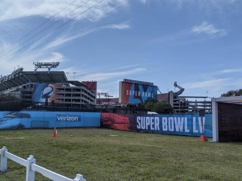 Exactly one week before Super Bowl LV kicks off at Raymond James Stadium in Tampa, Fla. When this picture was taken, preparations were still being made for the expected 22,000 fans that would show up in-person.