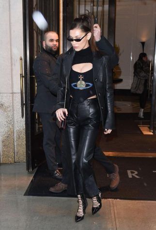 Paparazzi Photo of Bella Hadid in a Vivienne Westwood Corset top