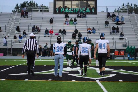 Buena Captains taking the field to begin the coin toss.