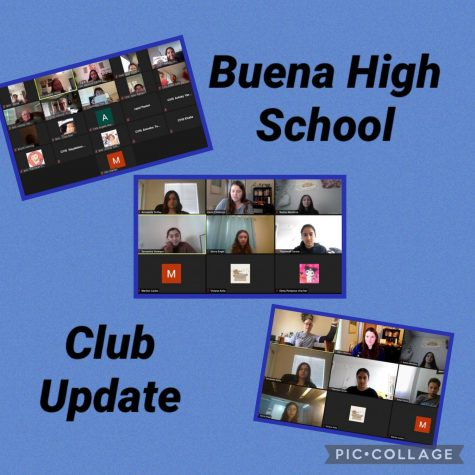 Key Club, Writer's Ink, and Pawprint continuing meeting on zoom during distance learning. Top submitted by Breana Chhay, bottom photos submitted by Karin Childress