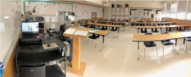 AP+english+teacher+Ms.+Perez%27s+classroom+ready+for+in+person+learning+and+test+taking