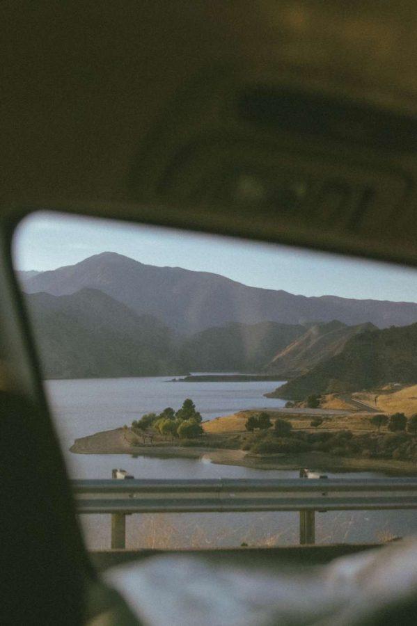 John captures Lake Casitas using the framing technique.