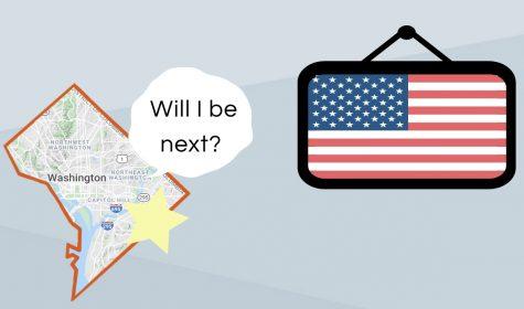 Graphic which represents Washington D.C.