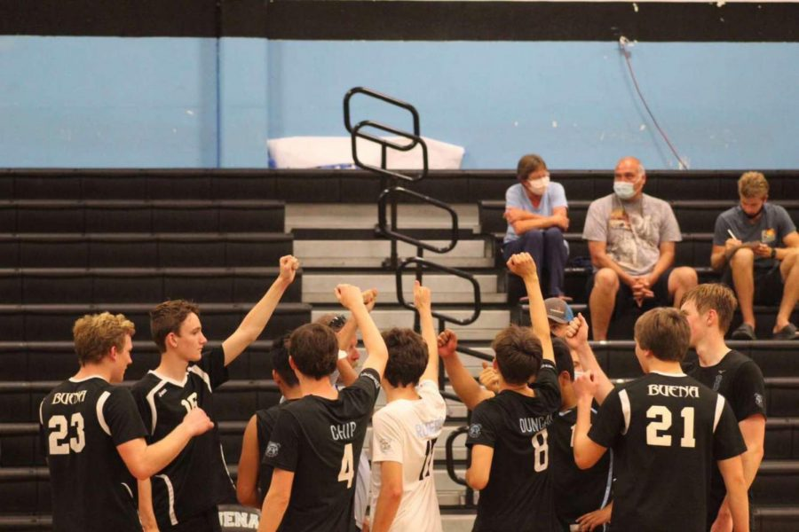 Buena+Boys+Volleyball+expresses+their+Bulldog+pride+after+a+big+win+against+Ventura.%0A