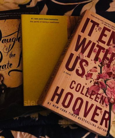 Three books waiting on the shelf waiting for you to read them during fall break.