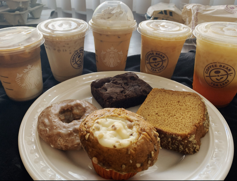 We tried drinks and pastries of all sorts but tried to mainly stick with the seasonal ones.